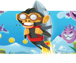 Monkey with rocket.