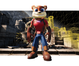Game personage in 3D.