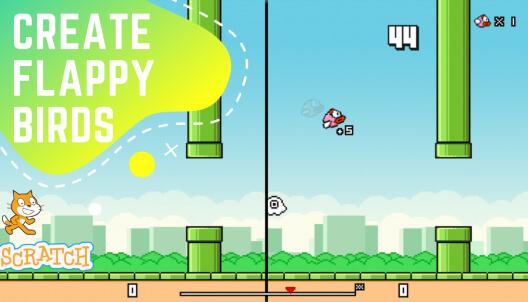 Create Flappy Birds in Scratch
