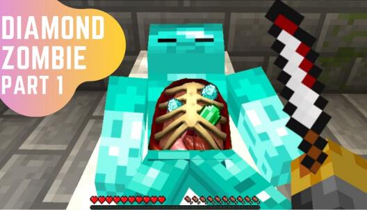 Create a diamond zombie in minecraft